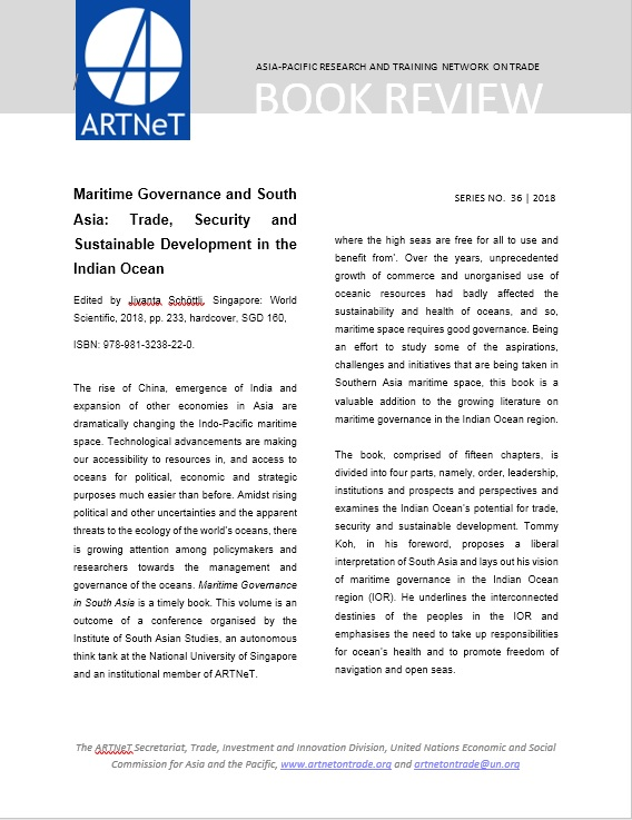 Maritime Governance and South Asia: Trade, Security and Sustainable